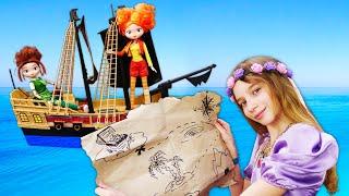 Куклы Сказочный Патруль иПринцесса София попали вРОЗЫГРЫШ! —Ищем сундук сдрагоценностями