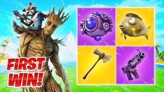 My FIRST WIN of Season 4 (New Battle Pass) Fortnite Gameplay