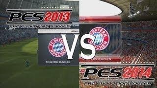 PES 2013 VS PES 2014 - Screenshots - Gameplay [HD]