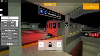Roblox Subway Train Simulator R46 C Train departing Middletown road