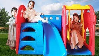 심심할때는 친구들과 같이 놀아요!! 서은이의 키즈펜션 놀이터 미끄럼틀 타요 아쿠아리움 선물 Pension for Kids with Friends Tayo Gift