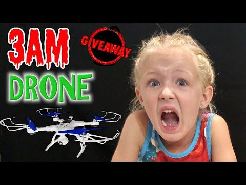 Do Not Fly a Drone at 3AM! Comes Alive and Chases Me! Actual Footage!!! Free Giveaway