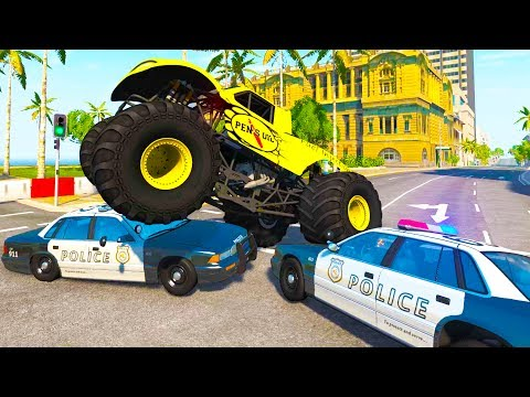 Insane High Speed Police Chases and Takedowns! - BeamNG Drive Crash Test Compilation Gameplay