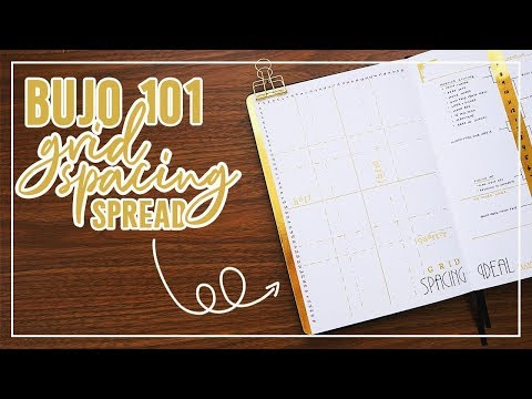 BuJo 101: The Grid Spacing Spread