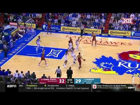 Kansas vs Iowa State Men's Basketball Highlights