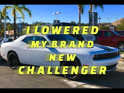 Before and After...I lowered my brand new Challenger... Here's why!