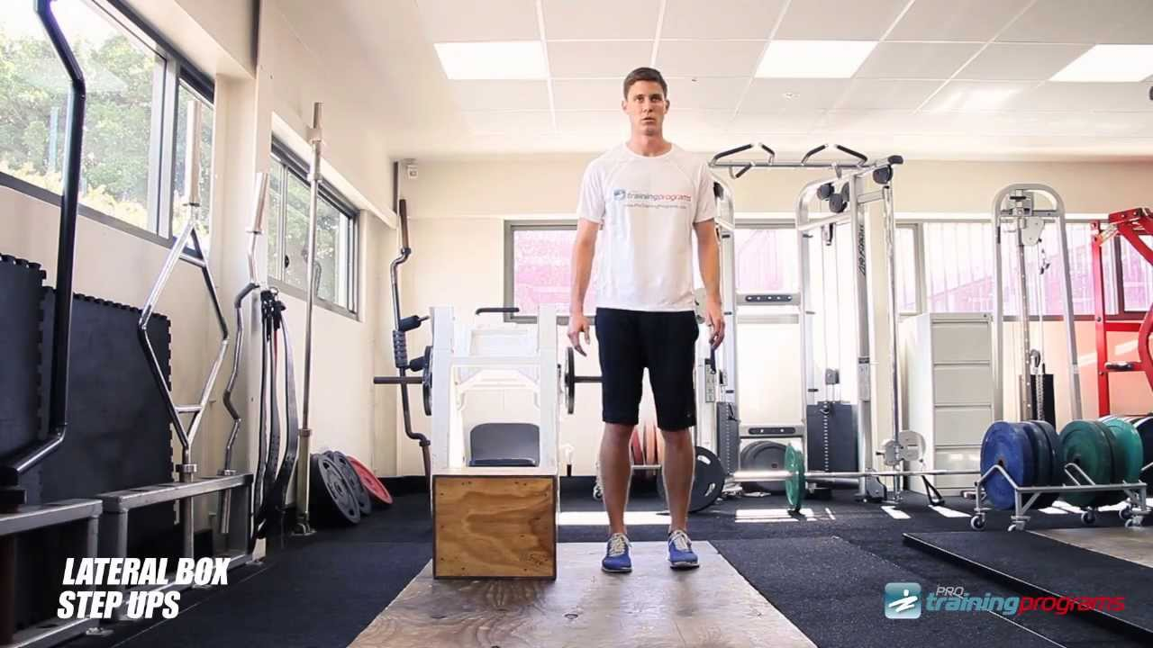 Lateral Box Step Ups - YouTube