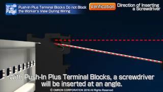 Push-In Plus Terminal - Clear terminal view