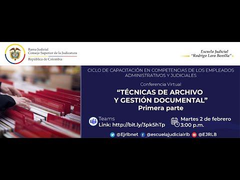 TÉCNICAS DE ARCHIVO