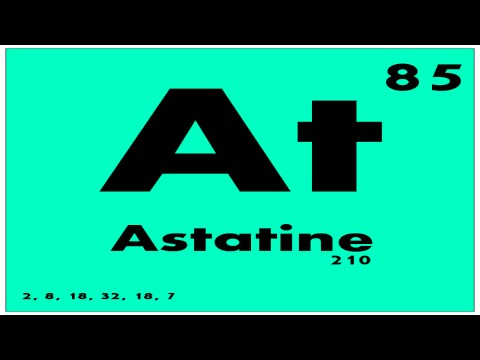 Study guide 85 astatine periodic table of elements for Table of elements 85