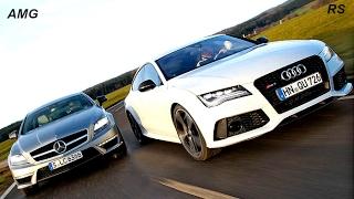 Audi RS7 vs Mercedes CLS63 AMG Acceleration 0-300 KM/H !!!!!!!