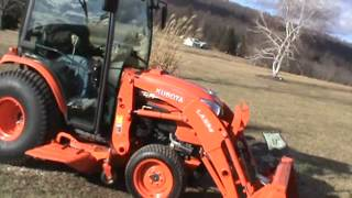 2013 Kubota B3350 Compact Cab Tractor 4x4 Heat Air Loader Belly Mower Diesel For Sale