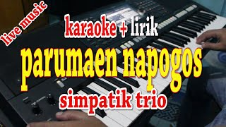 Download lagu PARUMAEN NAPOGOS [KARAOKE LAGU BATAK] SIMPATIK TRIO