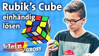 Speedcube: 14-Jähriger schneller als Vize-Weltmeister? Rubik's Cube-Challenge | Klein gegen Groß