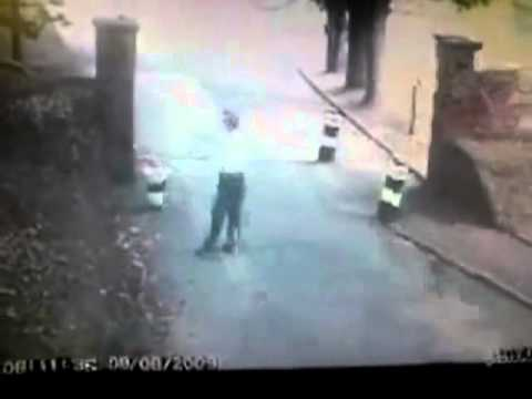 Ghost Caught on CCTV - REAL GHOST entrance road to Dover Castle, U.K. (Crossing Street)