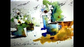 """""""Lost & Found"""" Edges in Watercolor- by Chris Petri ( Part 1 of 2 )"""