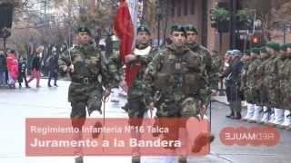 Juramento a la bandera Regimiento 16 Talca