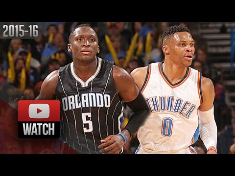 Russell Westbrook vs Victor Oladipo SICK DUEL Highlights (2016.02.03) Thunder vs Magic - 61 Pts!