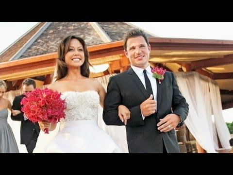 nick lachey and vanessa minnillo discuss recent wedding