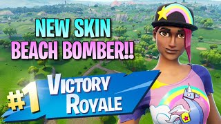 New Beach Bomber Skin!! 10 Elims!! - Fortnite: Battle Royale Gameplay