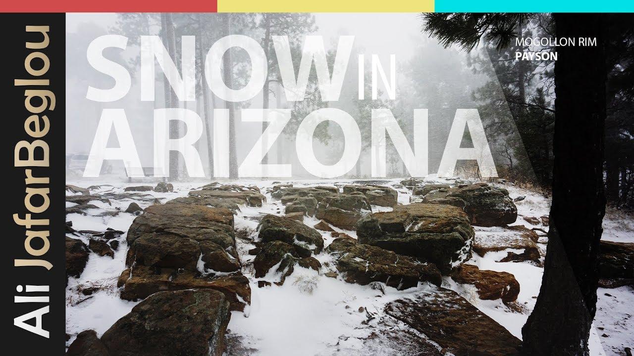 Snow In Arizona - Mogollon Rim Payson Arizona