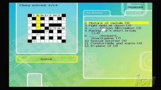 Puzzler Collection Nintendo Wii Gameplay - Crosswords