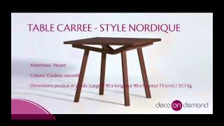 Table Scandinave Sean Dix En Bois De Frêne - Forte Decoondemand.com
