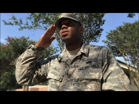SALUTING AN OFFICER IN THE AIR FORCE