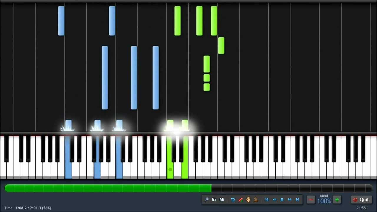 Lord of the Rings - Rohan - Piano Tutorial - Synthesia