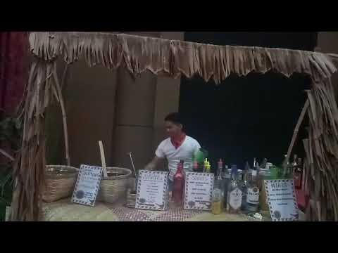 Flair bartending with Sir Andres Bonifacio's outfit