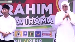 Kampanye Akbar Pasangan Cagub Khofifah-Emil
