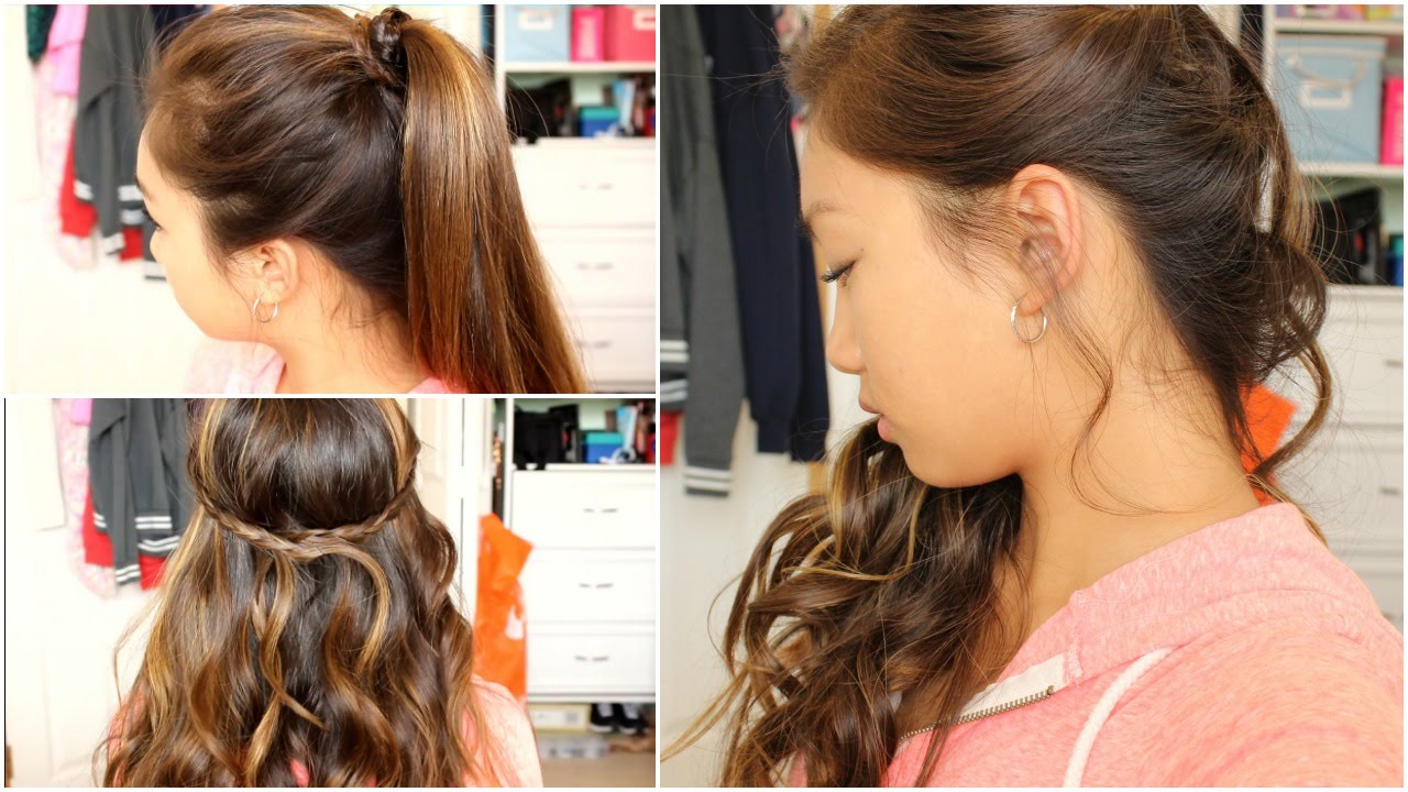 ♡ 3 Prom Semi Formal Hairstyles! Tutorial ♡ YouTube