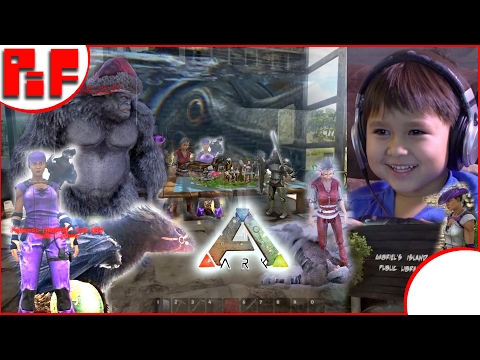 😊 New Friends! 😊  Gabriel's Island S1E12- Kid & Family Friendly Ark Survival Evolved Family Gaming