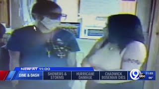 Caught On Camera: Two Women Dine And Dash