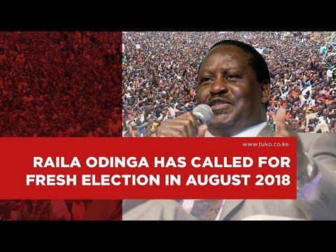 Do you support Raila Odinga's call for fresh presidential election?