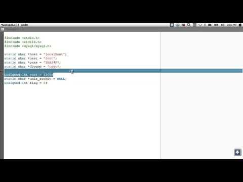 C Mysql API tutorial No.1