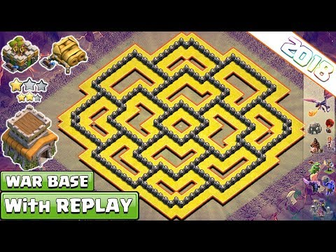 NEW! Clash of Clans Town Hall 8 TH8 War Base 2018 WITH REPLAYS !! TH8 War Base Vs TH9 & TH10 – COC
