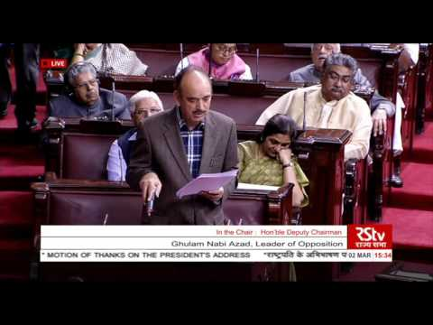 Sh. Ghulam Nabi Azad's speech in the discussion on the Motion of Thanks on President's Address