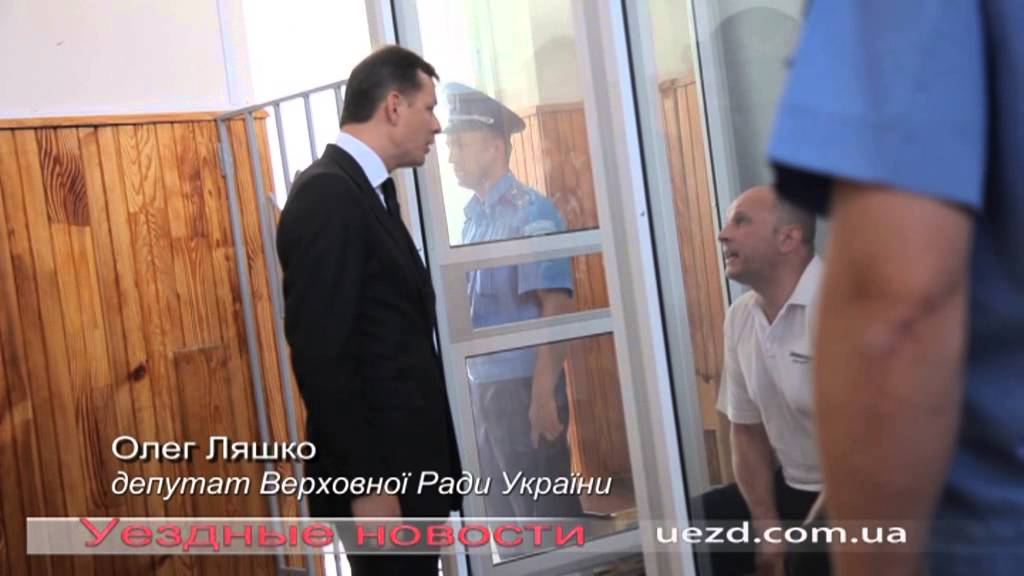 Олег Ляшко спілкується з борзнянським різником