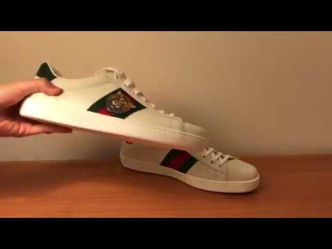 5e625665c GUCCI ACE SNEAKERS *Tiger* (UNBOXING) - YouTube