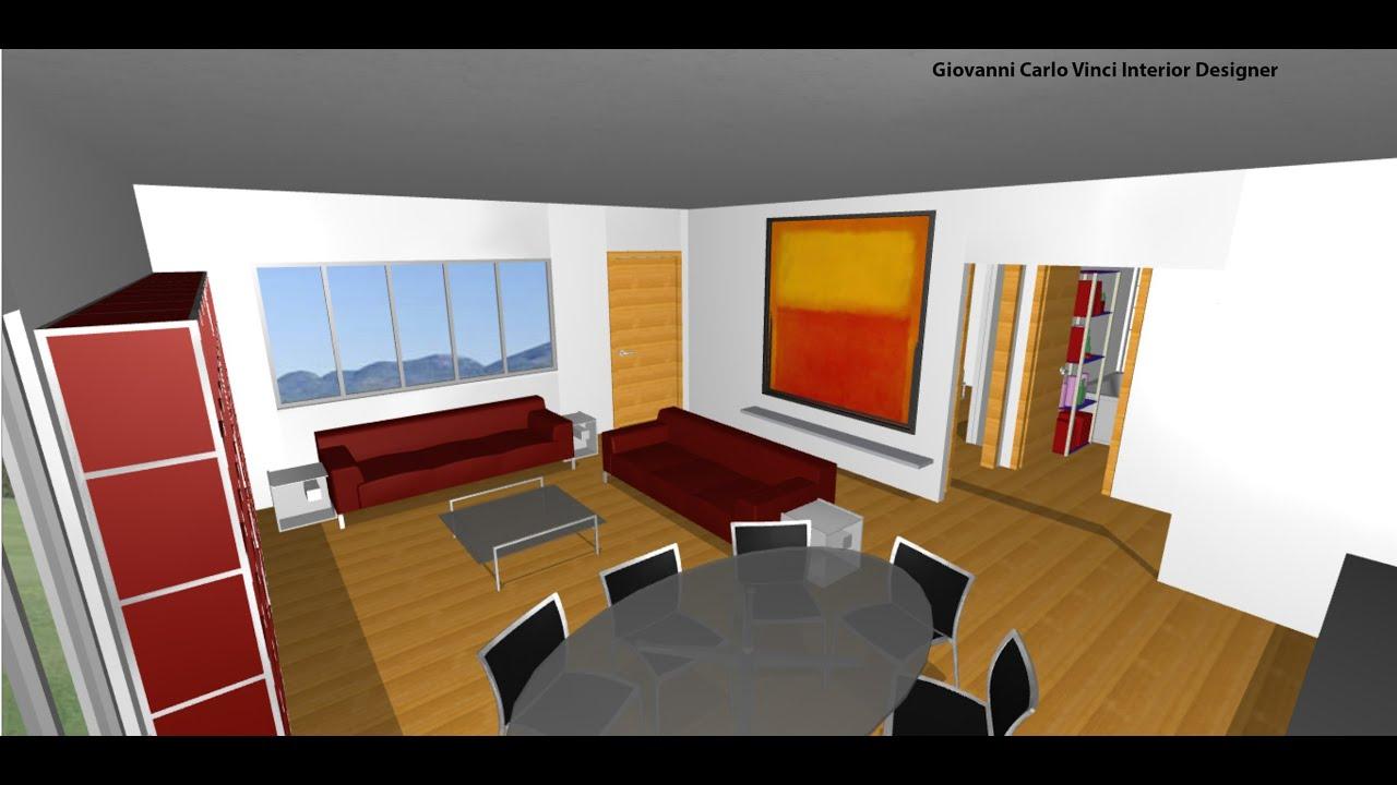 Abitazione arredata di 100 mq youtube for Arredare casa 120 mq