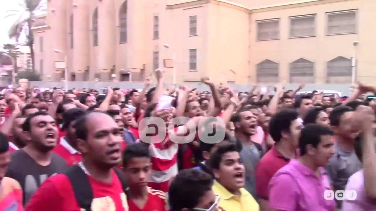 شبكة رصد: رصد   هتافات جماهير الأهلي أمام النادي للمطالبة برحيل مجلس