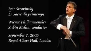 Stravinsky: Le Sacre du printemps - Mehta / Wiener Philharmoniker