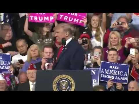 President Donald Trump Salutes Veteran at Pennsylvania Rally