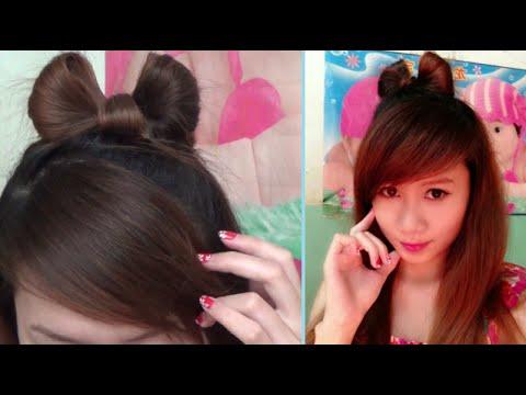 Hairstyles - Kiểu Tóc Đẹp - Cách Cột Tóc Nơ Đơn Giản & Dễ Thương