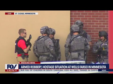 Armed robbery, active hostage situation at Minnesota Wells Fargo Bank