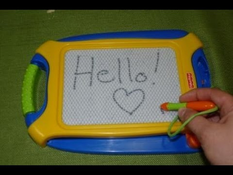 Review of Fisher Price Doodle Pro Tag Along Drawing Pad for Kids - Blue - YouTube