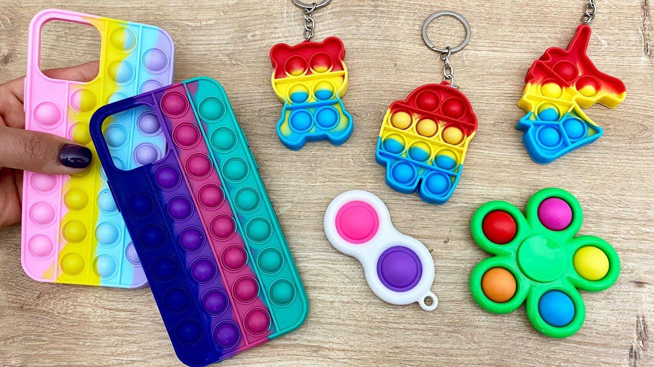 TikTok Pop it vs iPhone Takas Challenge! **Trading Fidget Toys Poo It Challenge ** Dobişko Tv
