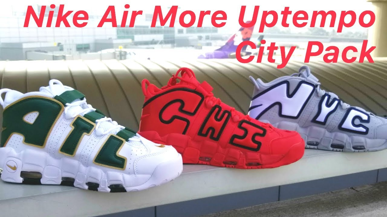 6bc0b3924077 Nike Air More Uptempo  City Pack  Comparison ATL NYC CHI - YouTube