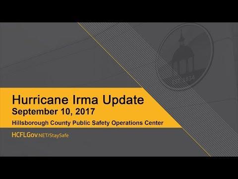 Hurricane Irma Update September 10, 2017 10 a.m.